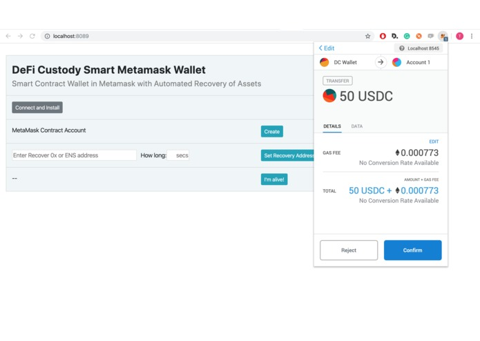 DeFi Custody Wallet – screenshot 6