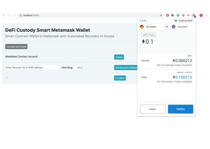DeFi Custody Wallet – screenshot 10