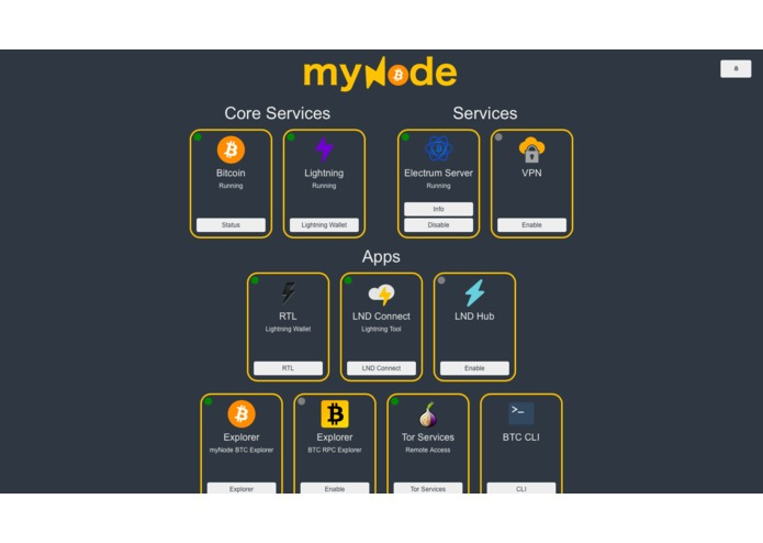 Dark-myNode – screenshot 1