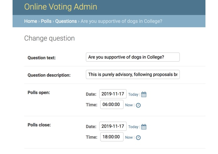 OxVote – screenshot 3