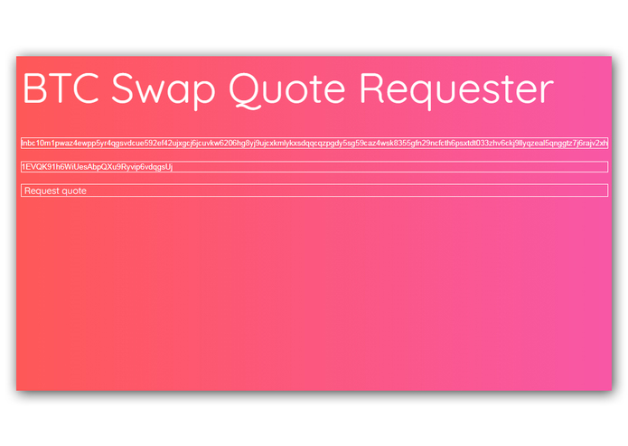 BTC Swap Quote Requester – screenshot 3