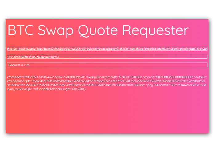BTC Swap Quote Requester – screenshot 4