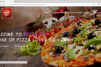 Online pizza system