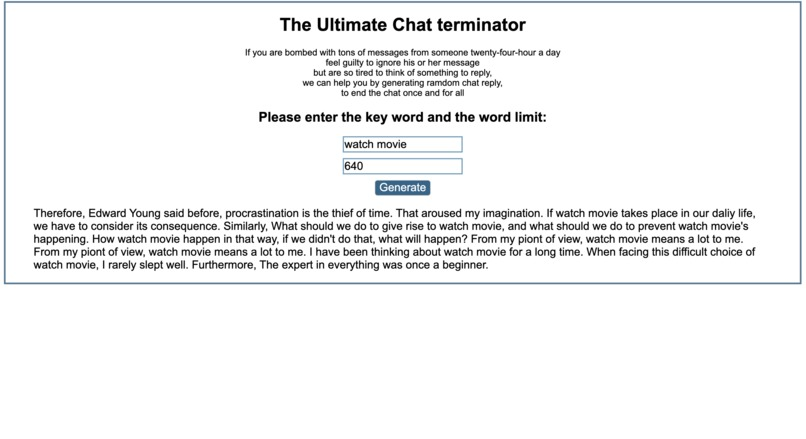 The Ultimate Chat Terminator – screenshot 1