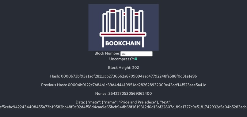 Bookchain – screenshot 1