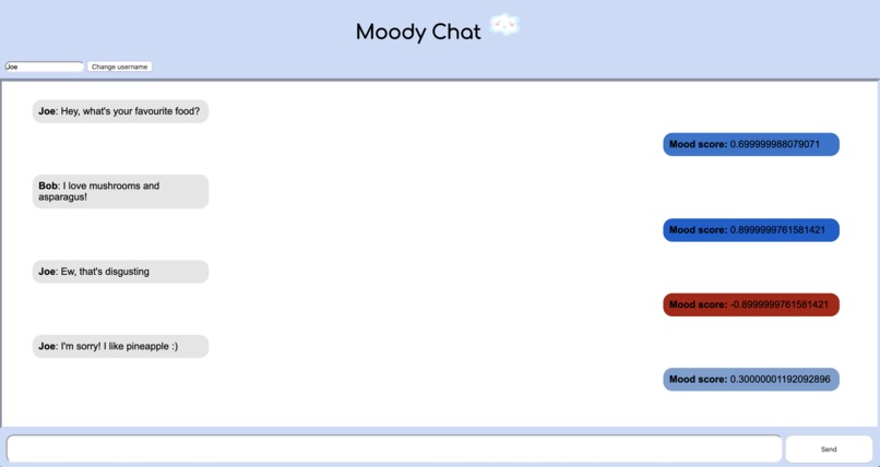 moody chat – screenshot 2