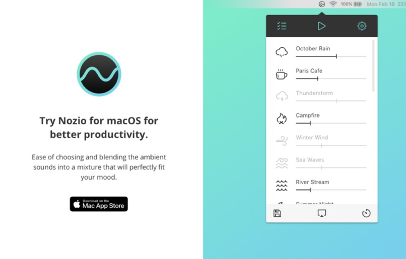 Noizio — focus, relax, sleep – screenshot 1