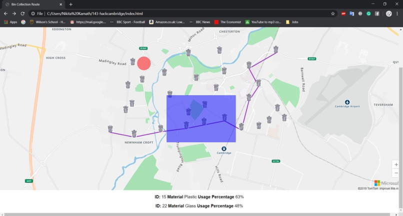 IoT smart waste network management and planning  – screenshot 4