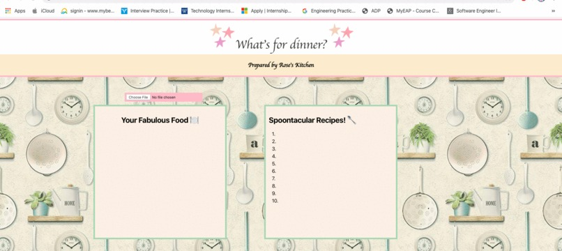 What's for Dinner? Prepared by Rose's Kitchen – screenshot 1