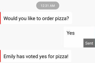 How to Democratically Order Pizza thru Texting via Polling