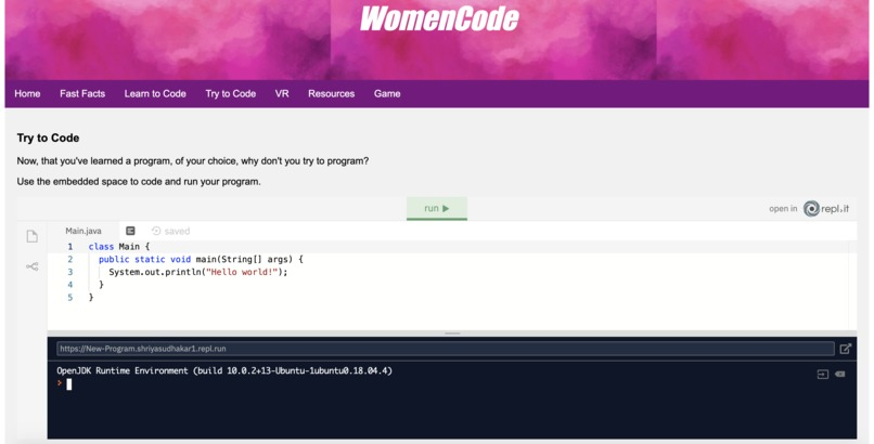 WomenCode – screenshot 1