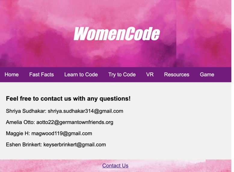 WomenCode – screenshot 2