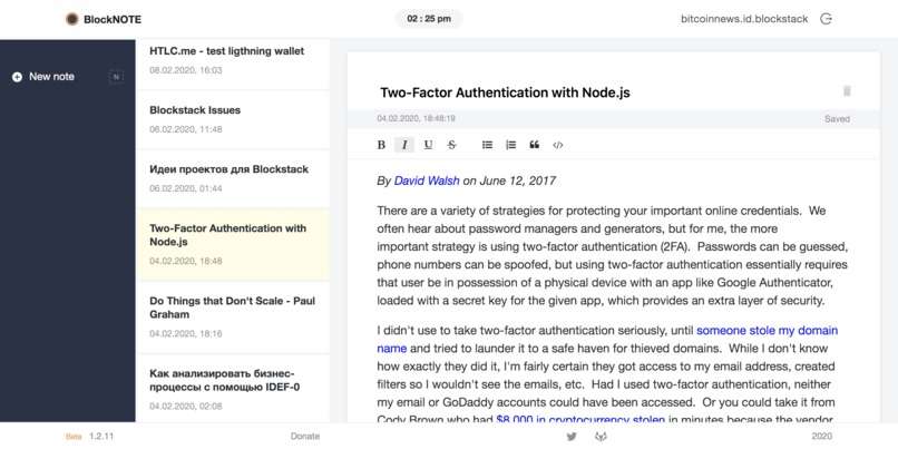 BlockNOTE – screenshot 2