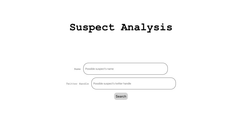 Suspect-Analysis-HTV4 – screenshot 1