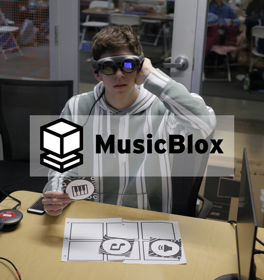MusicBlox: Tangible Programming Education in Mixed Reality – screenshot 1