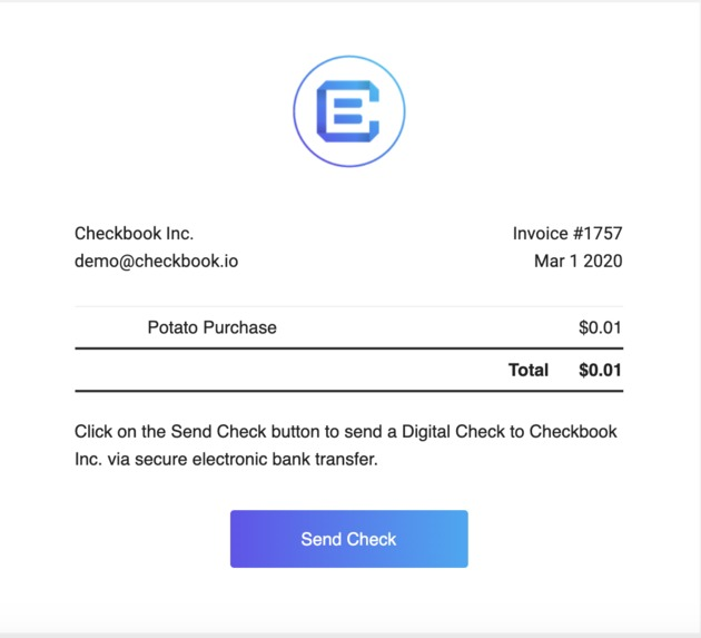 Shopify Checkbook.io App – screenshot 3