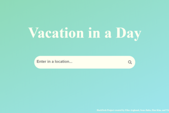 Vacation in a Day