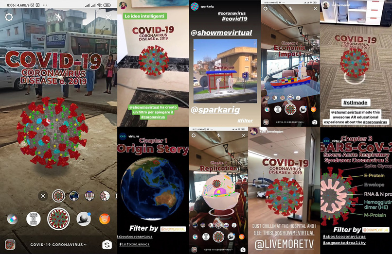 COVID-19 Instagram AR Experience – screenshot 3
