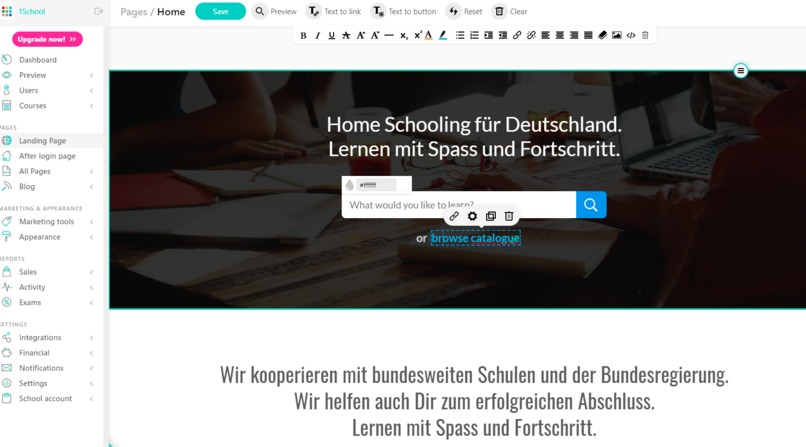19_e-Learning_Online_Digitale_Schule_1School_Homeschooling – screenshot 1