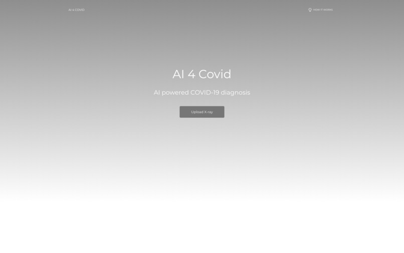 AI_4_COVID – screenshot 1