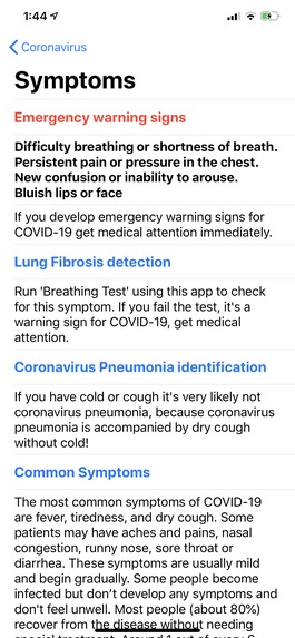 Coronavirus (COVID-19) – screenshot 3