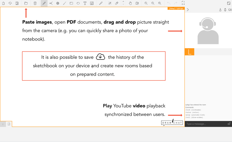 DRAW.CHAT - Virtual Classroom – screenshot 3