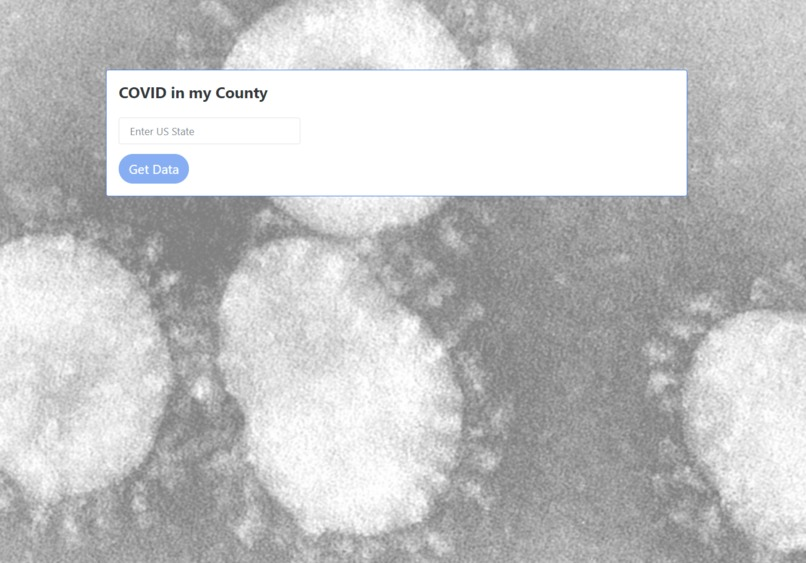 COVID in my County – screenshot 1