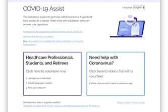 doc19.org - telehealth for COVID-19