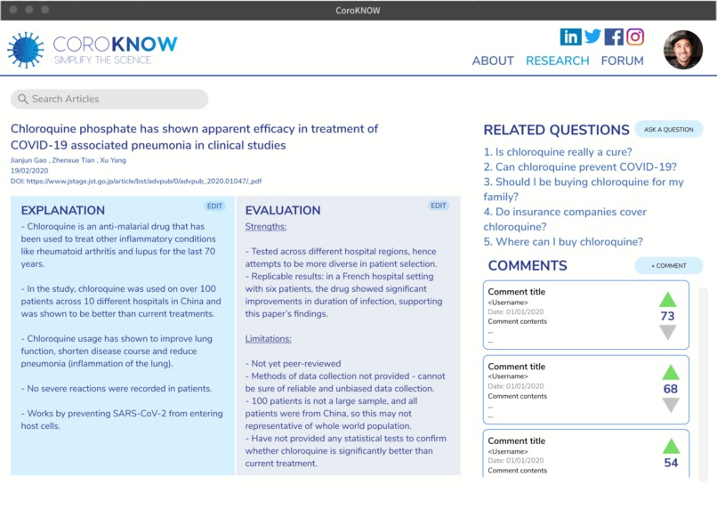 CoroKNOW – screenshot 5