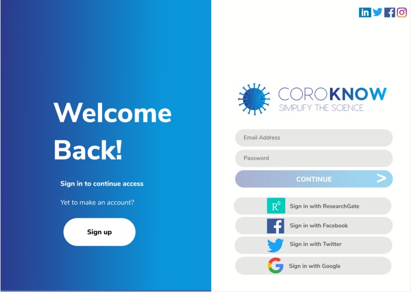 CoroKNOW – screenshot 2