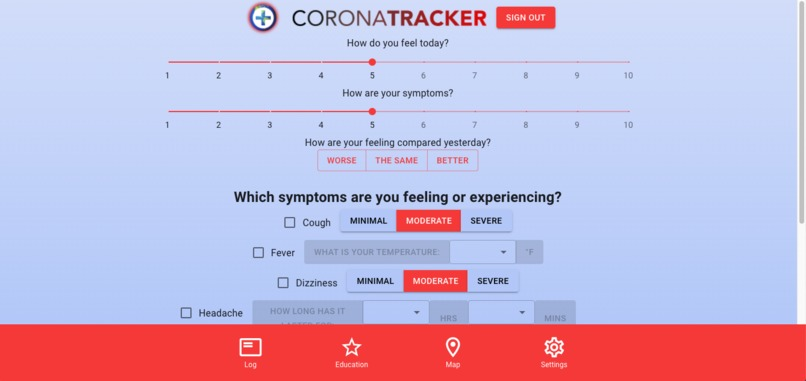CoronaTracker – screenshot 4