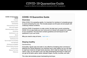 COVID-19 Quarantine Guide for Vulnerable Populations