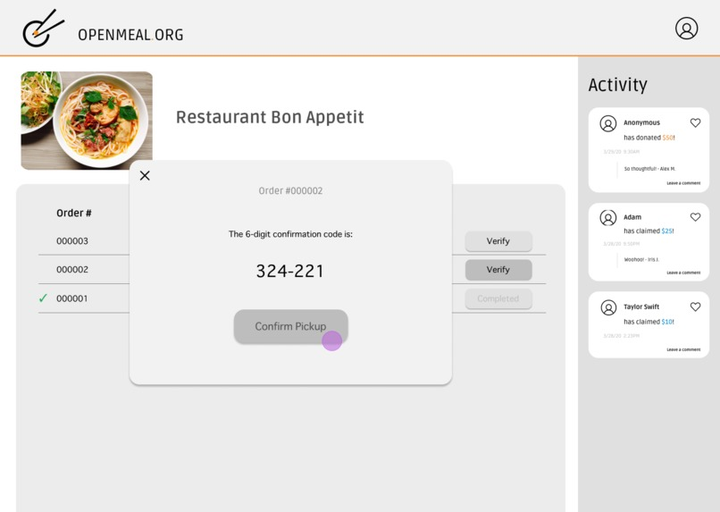 Open Meal – screenshot 4