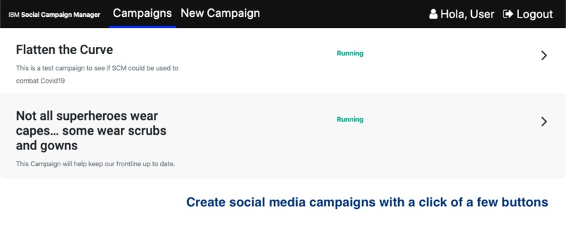 A Social Campaign Manager, Coming Together using AI. – screenshot 2