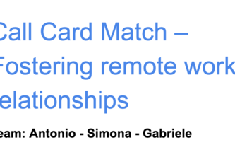 Call Card Match – Fostering remote work relationships