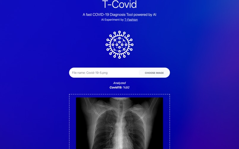 T-Covid: A Fast COVID-19 Diagnosis Tool – screenshot 2