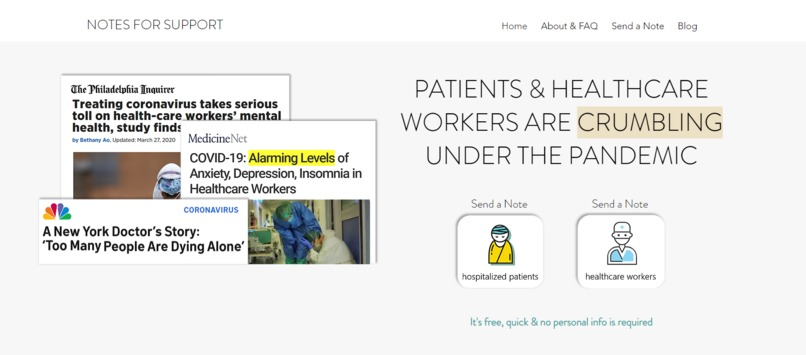 Notes for Support -- Care for the sick & frontline workers – screenshot 3