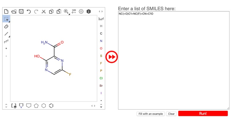 Analyzing molecules targeting COVID-19 proteins – screenshot 1
