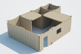 Design of a modular unit for building a temporary hospital