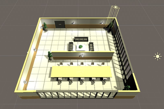 A collaborative virtual environment for work and relaxation