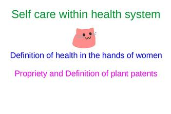 Self care within health system