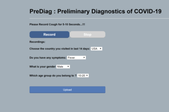 PreDiag: AI based preliminary COVID-19  Diagnostic App