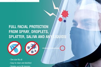 Reusable Protective face shields and safety screens