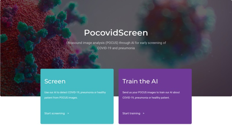 POCOVIDSCREEN- AI to detect COVID-19 with POCUS ultrasounds – screenshot 1