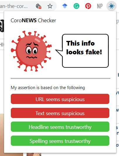 CoroNEWS Checker – screenshot 2