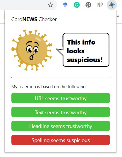 CoroNEWS Checker – screenshot 3