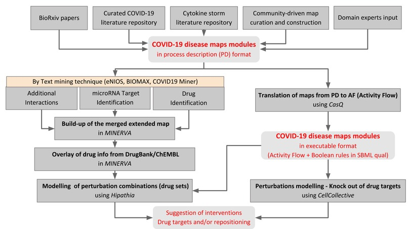 Disease Maps and text mining for drug prediction – screenshot 2