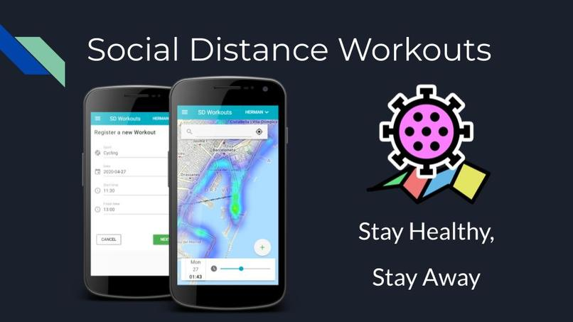 Social Distance Workout - Plan your workouts, Avoid people – screenshot 1
