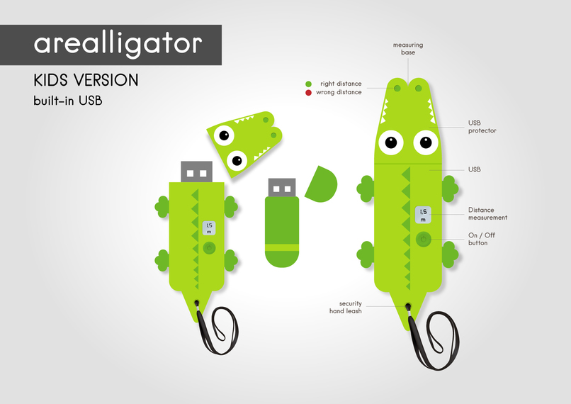 Arealligator - distance measurement & education-toy for kids – screenshot 2