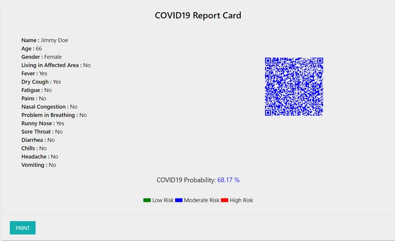 COVIDprob – screenshot 3